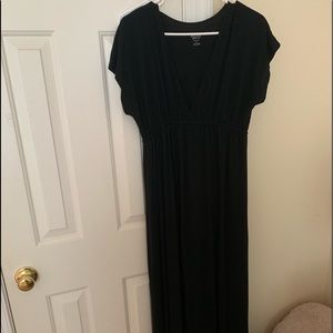 Black maxi dress from target